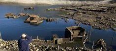 Un pueblo de Ourense resurge de las aguas 20 años después