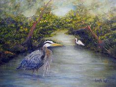 """Calm Waters"" original painting."