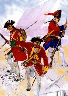Irish Wild Geese Regiment Lally in battle