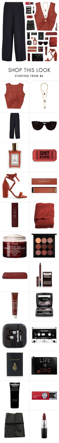 """heartless"" by martosaur ❤ liked on Polyvore featuring Rosantica, Lanvin, Tiffany & Co., Fishs Eddy, Raye, Sloane Stationery, Byredo, H&M, Fresh and MAC Cosmetics"