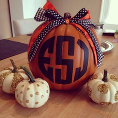 Happy Fall Y'all! Decorated pumpkins