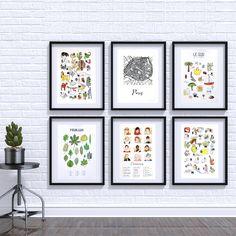Wall Of Ana Fernandez's ilustrations. Handmade.