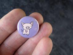 Purple Piglet Pin Pig Pin Pig Magnet by marmarsuperstar on Etsy