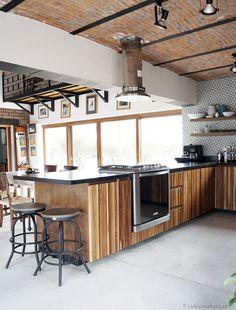Renovaci n de cocina estilo r stico industrial - Casas estilo rustico ...