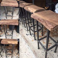 Hand Made Black Walnut Bar Stool With Swivel And Back By . Buch Bar Stool Replica Mid Walnut And Black Leather. Diy Bar Stools, Industrial Bar Stools, Industrial Design Furniture, Bar Chairs, Rustic Bar Stools, Seagrass Bar Stools, Vintage Bar Stools, Black Bar Stools, Bar Tables