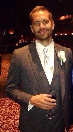 Paul at his brother's wedding