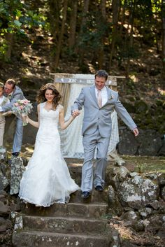 """Semi-dancing our way back down the aisle to """"Smile"""" by Uncle Kracker"""