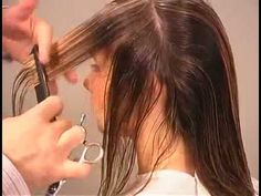 Hair Cutting Technique    & How to cut Long Graduated Haircut 1-2.flv