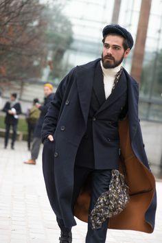 "Giotto Calendoli, ""Paris Fashion Week street style - GQ.co.uk"", Men's Fall Winter Fashion."