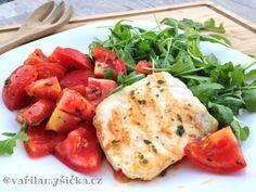 Grilovaný Halloumi s restovanými voňavými rajčaty