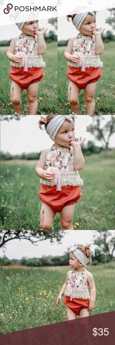 Baby bohemian crochet fringe romper🌈 NEW baby bohemian festival floral romper with fringe.🌈Absolutely adorable! Check out my other listing for more bohemian items for women children and infants. Bundle and pay only once, plus get an additional discount. 💰The more you bundle the more you save. Dresses