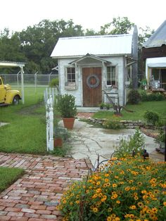 the cutest garden shed