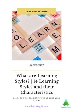 Did you know there are different learning styles? but What are learning styles? This blog presents 14 learning types and their characteristics based on educational models. If you want to learn which one you use click on the pin!  #learningstyles #typesoflearning #auditorylearningstyle #visuallearningstyle #kinestheticlearningstyle #kinestheticlearner #learningcharacteristics #learningconcept #learningstrategies #learningskills #learning #blogpost Kinesthetic Learning Style, Learning Skills, Learning Theory, Ways Of Learning, Skills To Learn, Learning Process, Always Learning, Student Learning, Educational Theories