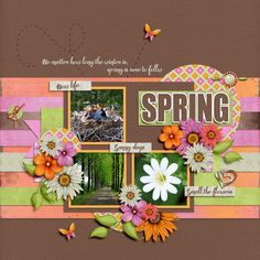 Spring, created with Spring Bouquet by Kristmess. Template is by Tinci Designs.