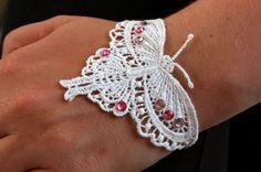 White Lace Butterfly Bracelet by IntricateTinkets on Etsy, $8.00