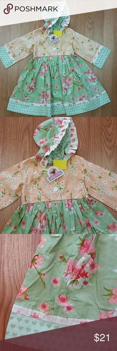 Jelly the Pug New with tags. Dress has a adorable hood. Great for fall ! Jelly the Pug Dresses