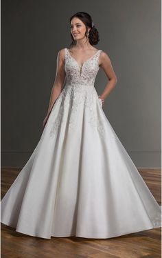 Elegant brides, this classic wedding dress with formal details from bridal designer Martina Liana was made for your black-tie affair! How To Dress For A Wedding, Classic Wedding Dress, Tulle Wedding Gown, Bridal Gowns, Vows Bridal, Lace Wedding, Bridal And Formal, Elegant Bride, Beautiful Gowns