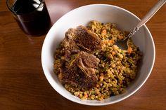 ... pepper salad farro beet and herb salad honey and harissa farro salad