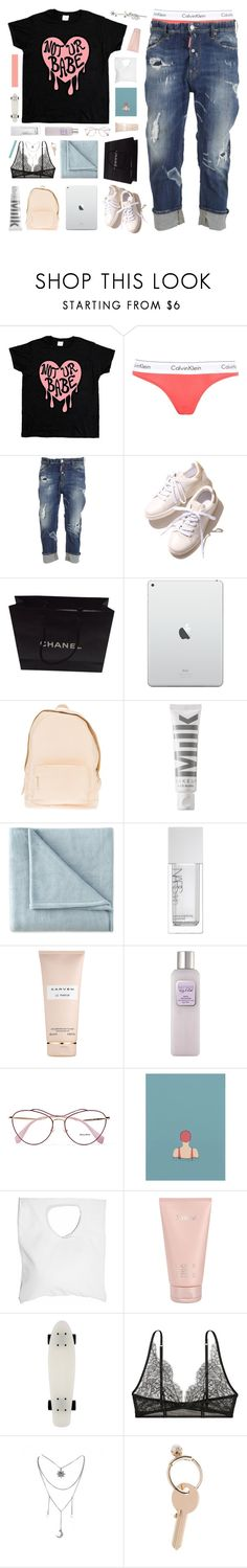 """""""hula hoop--testing tags + inspired by kirsten!"""" by frostedfingertips ❤ liked on Polyvore featuring Calvin Klein Underwear, Dsquared2, Chanel, PB 0110, MILK MAKEUP, JCPenney Home, NARS Cosmetics, Carven, Laura Mercier and Miu Miu"""