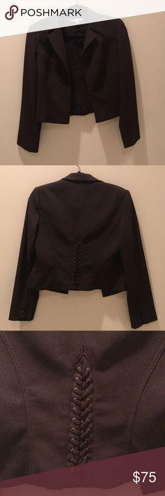 Beautiful ALBERTO MAKALI Blazer Amazing condition, with beautiful detailing. This is a dark, chocolate brown, blazer, that looks brand new. Alberto Makali Jackets & Coats Blazers