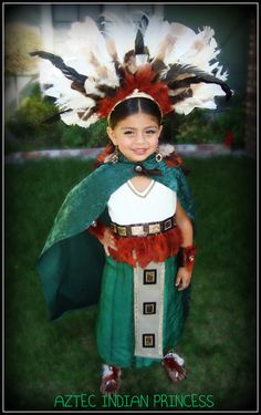 Made this Aztec Princess costume for Halloween