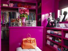Incorporating a neon color into your home is never an easy feat, especially when that color is as polarizing as pink, but when the hue is this rich and bold, the result is a space that screams fun. Tour the rest of the home.   - ELLEDecor.com
