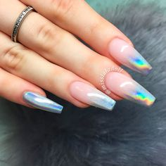 21 Best Ideas How to do Ombre Nails Designs + Tutorials ❤ Holographic Ombre Nails picture 2 ❤ There is no need to wonder how to do ombre nails anymore! We know everything about the best and the easiest techniques of ombre, which you can easily replicate at home.https://naildesignsjournal.com/how-to-do-ombre-nails/ #naildesignsjournal #nails #ombrenails