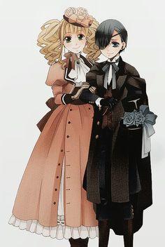 Ciel and Elizabeth (Lizzy)   Kuroshitsuji - Black Butler #Anime #Manga