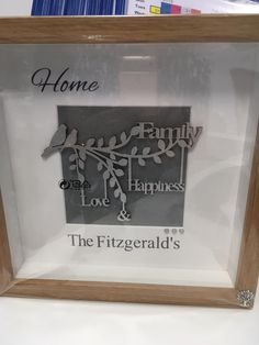 See the family tree on the frame