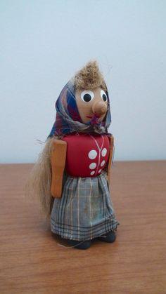 Vintage Swedish wooden doll by BoomerangModern on etsy.
