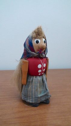 Vintage Swedish wooden doll by BoomerangModern on etsy.