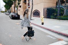 Billabong Plaid Kimono + Marc Jacobs Too Hot To Handle Bag #fallfashion #falltrends #sandiego