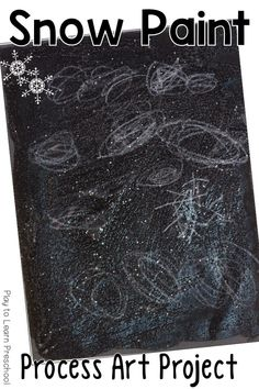 Mix up this easy Snow Paint mixture and create a sparkly winter scene with your children. Preschool Themes, Preschool Learning, Preschool Activities, Preschool Classroom, Kindergarten, Snow Scenes, Winter Scenes, Preschool Christmas, Preschool Winter