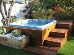 40 Lovely Jaccuzzis Ideas - When people refer to a hot tub or a spa, they often think of the word Jacuzzi. The terms are often used interchangeably but Jacuzzi is actually a bran. Hot Tub Gazebo, Hot Tub Backyard, Hot Tub Garden, Backyard Patio, Backyard Landscaping, Garden Gazebo, Backyard Ideas, Garden Ideas, Jacuzzi Patio Ideas