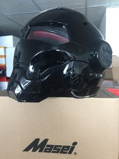 Masei 610 Gloss Atomic-Man Motorcycle Arai Helmet looking like Star Wars Darth Vader