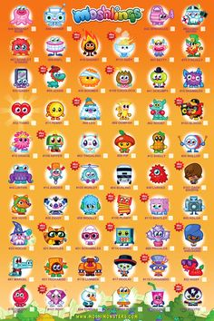 Moshi Monsters Moshling List (2)