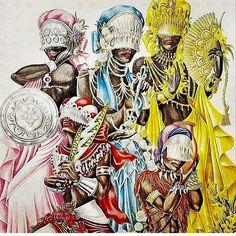 candelaria African Mythology, African Goddess, Black Women Art, Black Art, Oya Goddess, Yemaya Orisha, Azores Portugal, Yoruba Orishas, Yoruba Religion