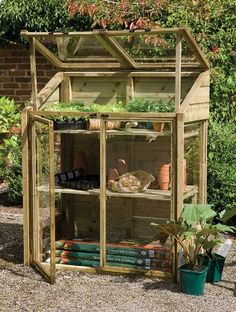 Shed DIY - serre de jardin diy bois idée bricolage Now You Can Build ANY Shed In A Weekend Even If You've Zero Woodworking Experience! Lean To Greenhouse, Greenhouse Plans, Greenhouse Gardening, Greenhouse Wedding, Miniature Greenhouse, Pallet Greenhouse, Underground Greenhouse, Greenhouse Supplies, Homemade Greenhouse