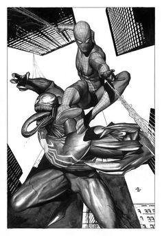 Spidey vs Venom by Adi Granov
