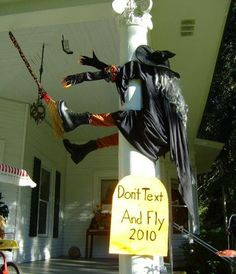 Witch...don't text and fly!!  :D