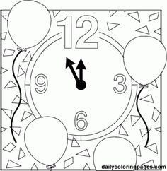 new years eve holiday coloring pages 01