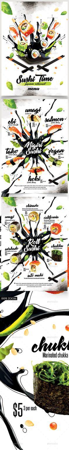 Sushi #Menu - #Food Menus Print Templates
