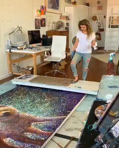 Most Incredible Art Studio Design Ideas Ipad Kunst, Studios D'art, Room Deco, Grand Art, Art Studio Design, Art Abstrait, Pretty Art, Acrylic Art, Art Plastique