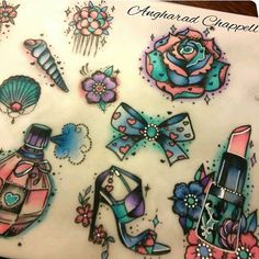Girly flash sheet on progress  #tattoos #smalltattoos #flashsheet #flashtattoo #flas... | Use Instagram online! Websta is the Best Instagram Web Viewer!