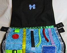 Blue Tactile Tabard Apron – Size S/M – Dementia Activity Product