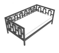I want to make this!  DIY Furniture Plan from Ana-White.com  A modern style daybed, featuring a modern pattern on back and arms. Free easy step by step plans to save you money off West Elm furniture.