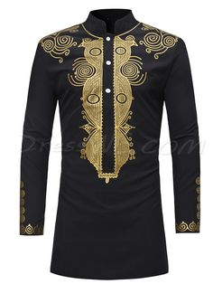 Ericdress African Fashion Dashiki Print Slim Fitted Stand Collar Mens Shirts Online store for the latest fashion & trends in women's collection. Shop affordable ladies' Dresses, Clothing, Shoes & Accessories with top quality. Dashiki Shirt, Dashiki Dress, Cheap Mens Shirts, Mens Shirts Online, Men's Shirts, Printed Shirts, Long Shirts, Dress Shirts, Dashiki For Men