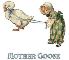Vintage 1920's Mother Goose-Nursery Rhyme Decal