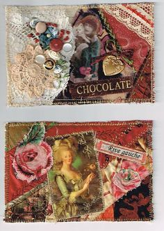 quilted postcards.