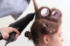 How to give thin hair extra volume? The answer: Velcro rollers. DIY by watching tutorial here.